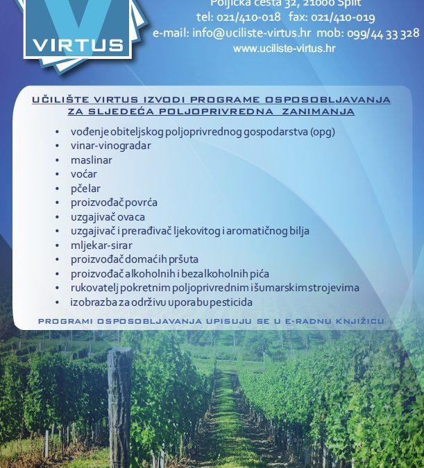 Programi učilišta VIRTUS