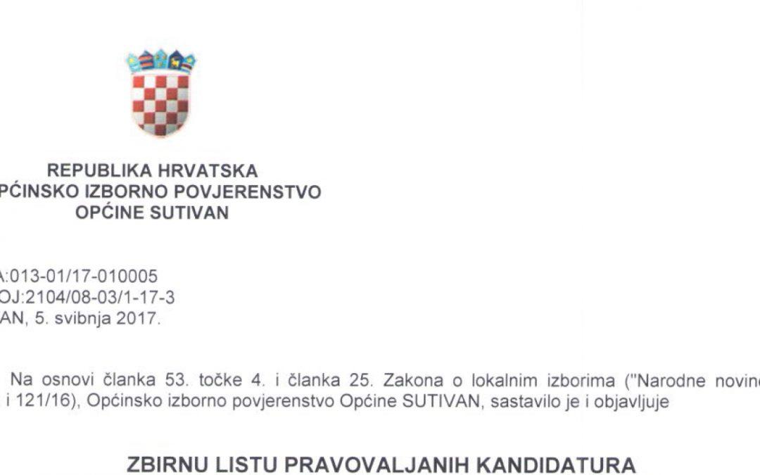 Objavljene liste kandidata za lokalne izbore u Sutivanu