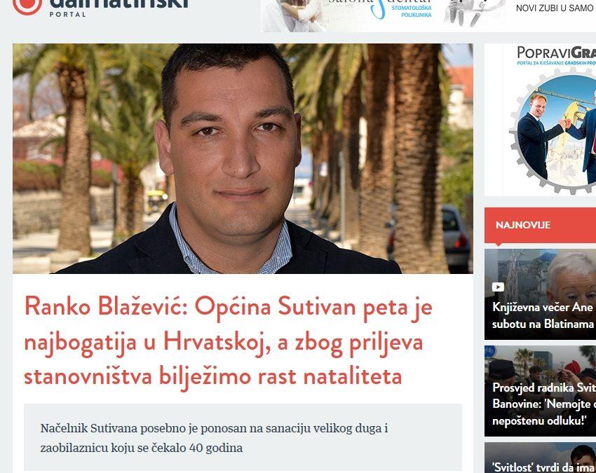 Razgovor sa načelnikom na Dalmatinskom portalu